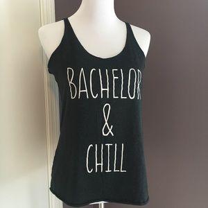 Tops - Bachelor & Chill charcoal tank